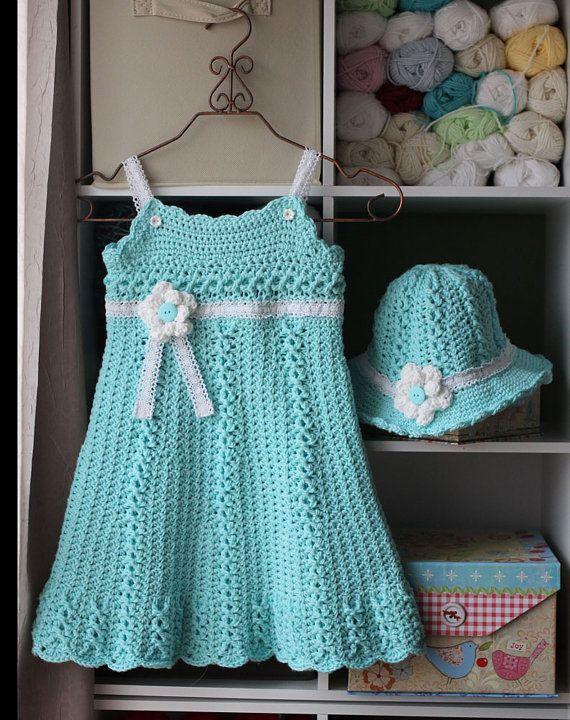 Chloe Sundress Crochet Pattern Sizes 2T Girls por CrochetGarden ...