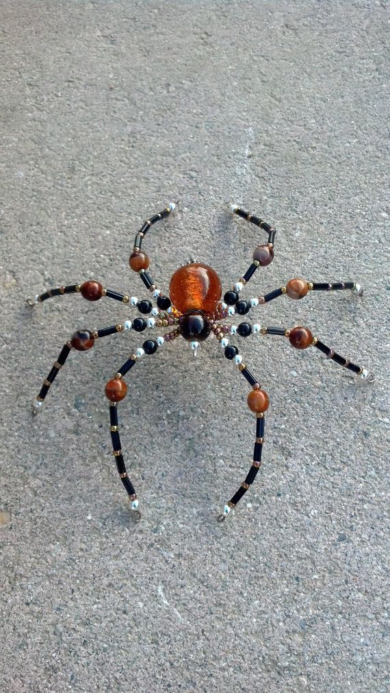 large beaded spider by Natjerm on Etsy, $12.00 | BEADED ANIMALS ...
