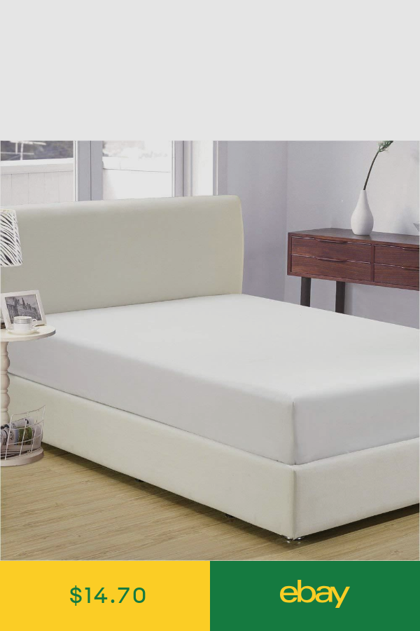 Elastic Fitted Sheet Deep Pocket All Around Microfiber Mattress Cover Pillowcase