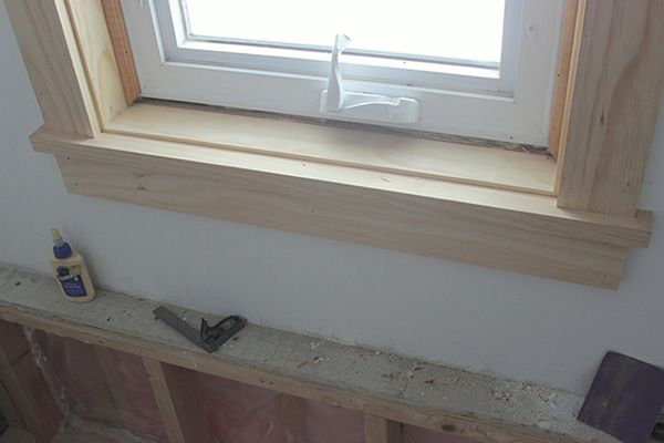 How To Install Craftsman Style Window Trim Interior Window Sill