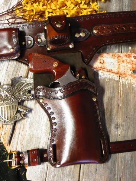 Smith & Wesson Left & Right Hand Custoim Handmade Gun Leather
