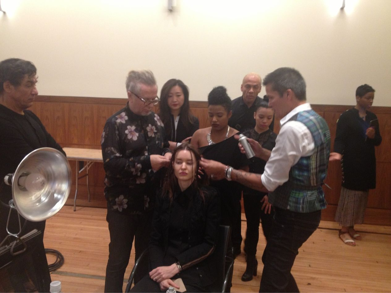 Styling hair for Claire Pettibone's Bridal Fashion Show. With Laurent Dufourg and Sam Brocato NYC #hair #fashion #fashionshoot #photoshoot #primpt #beauty #hairstyles #hairdresser #runway #curls #model #fashionweek #bridalfashionshow #hairstyling #behindthescenes #vogue #ellemagazine #bridal #fashionshow #mbfw #nycfw #makeup #photography #wedding