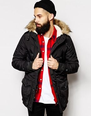 New Look Traditional Parka Jacket | The Beard Experience ...