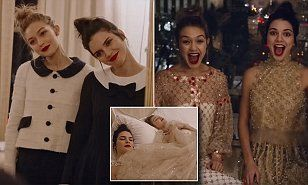 The best friends star in a new video for Vogue in which they model Chanel designs while spending time in a hotel room at The Plaza in New York.