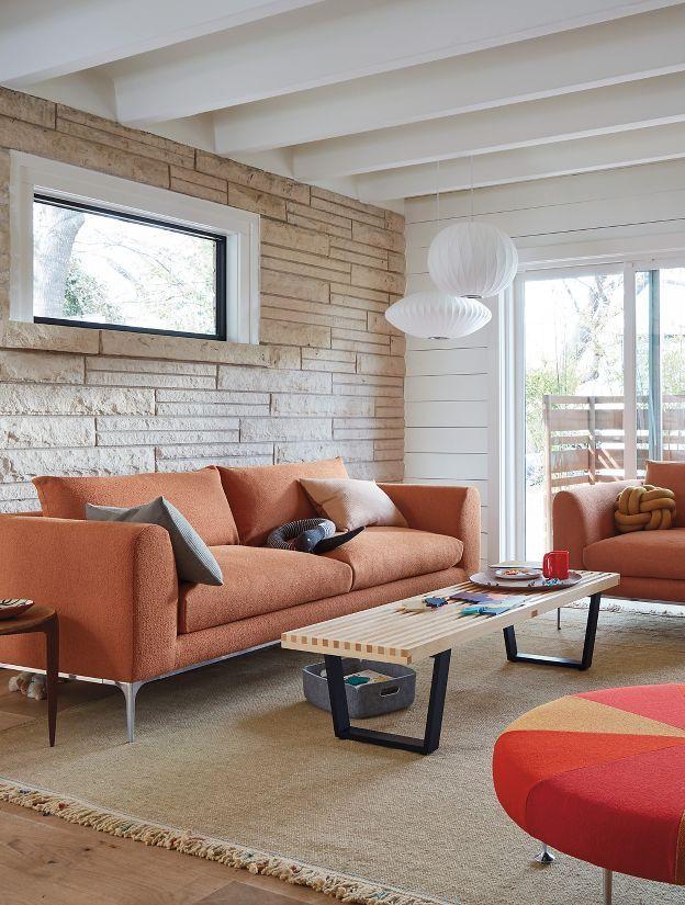 Nelson Platform Bench With Images Orange Furniture Living Room Cheap Living Room Sets Living Room Orange