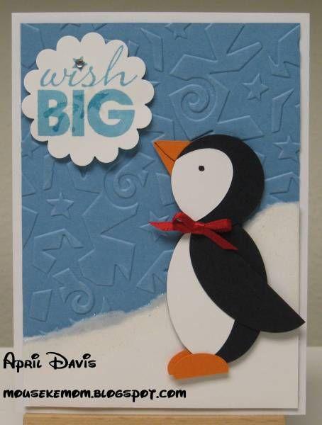 Penguin Punch Art Birthday Card Cards That Inspire Me Pinterest
