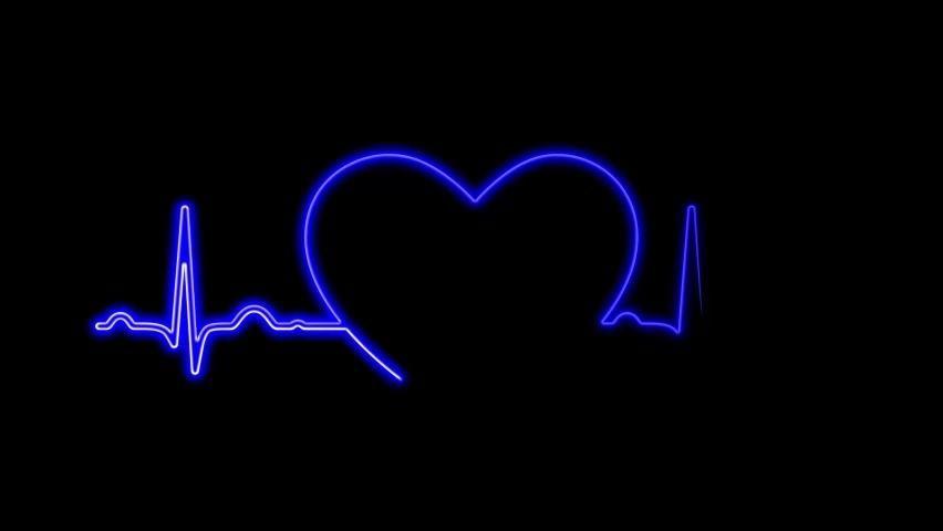 Neon Symbol Design Sign Colorful Stock Footage Vid