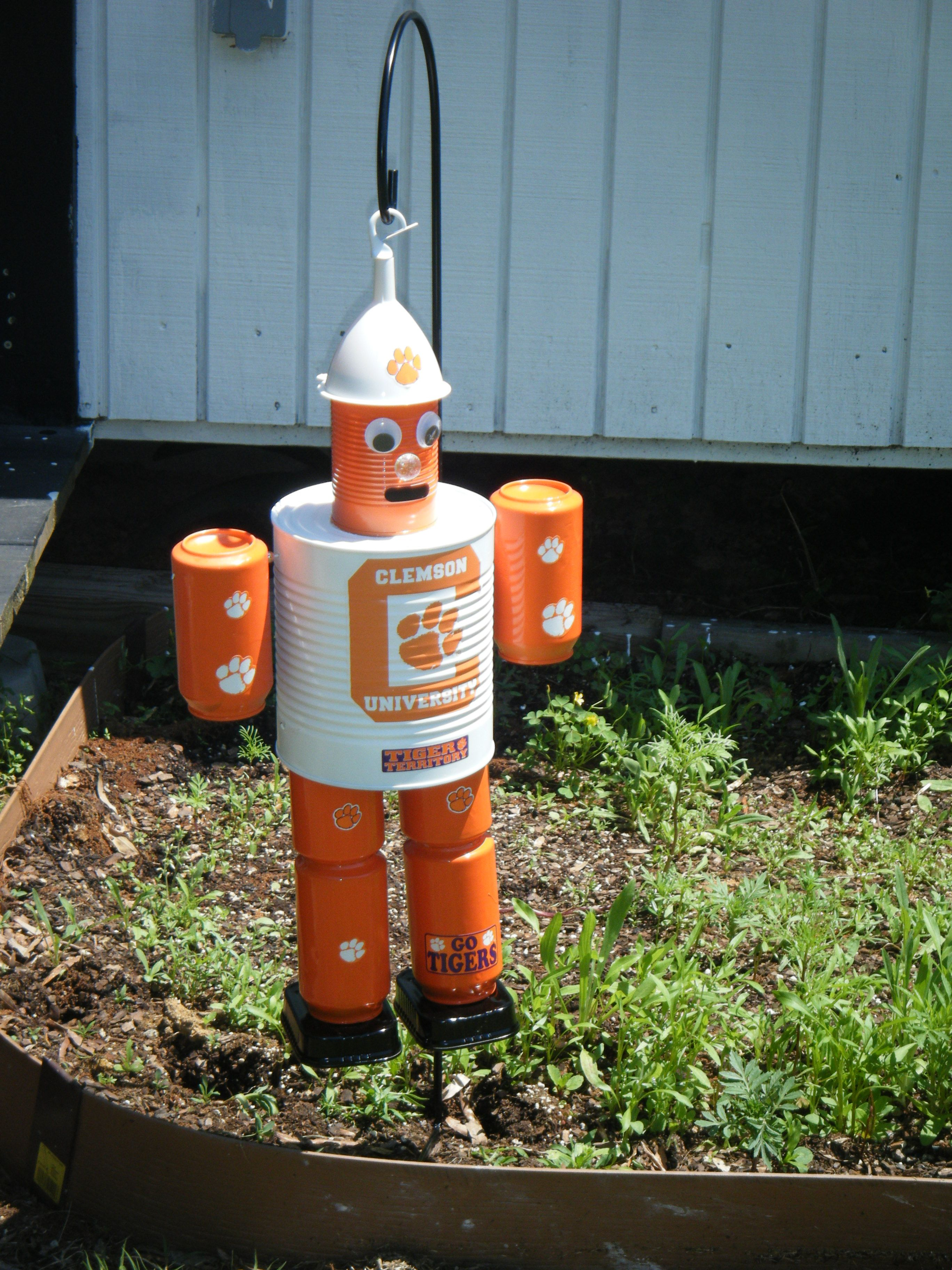 Clemson tin can man joyce finley pinterest recycled for Tin man out of cans
