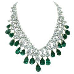 Magnificent Emerald Diamond Necklace