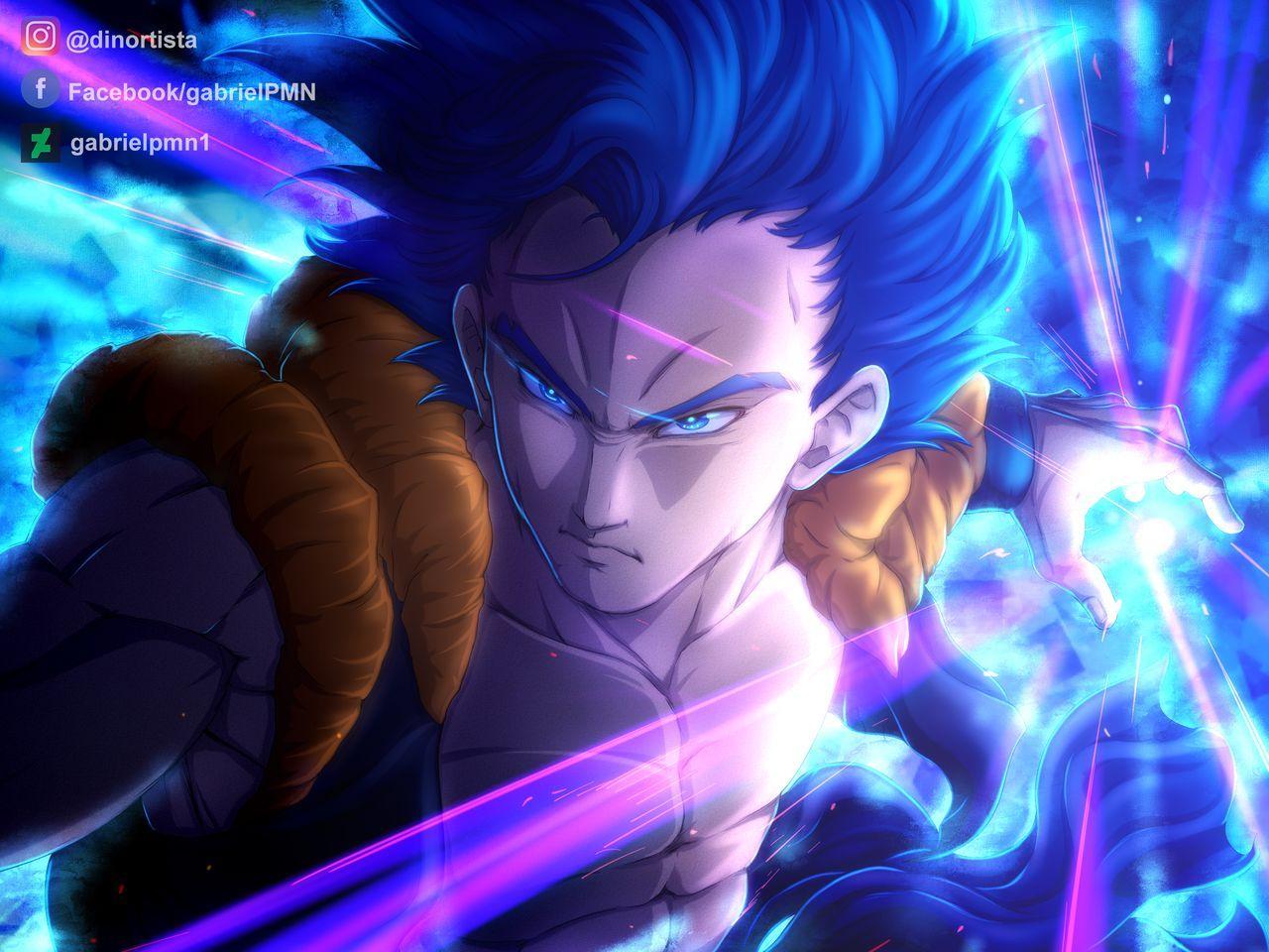 Gogeta Super Saiyan Blue By Gabrielpmn1 On Deviantart Dragon Ball Anime Dragon Ball Dragon Ball Art