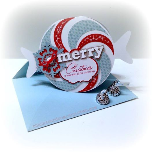 merry mint christmas card scrapbookcom super fun candy shaped christmas card - Mint Christmas Cards