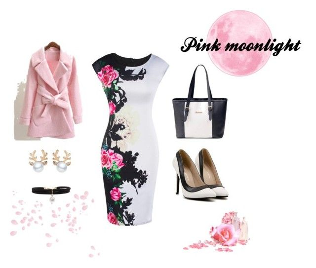 """""""Pink Moonlight"""" by flowerbud77 ❤ liked on Polyvore"""