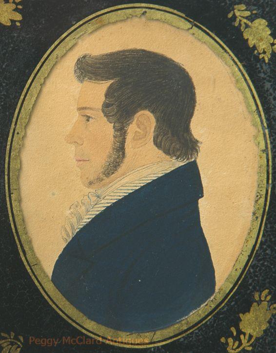 Antique Portrait Marriage Pair by Rufus Porter