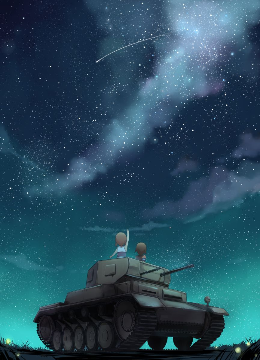 Miho Maho アニメの女の子 漫画ガール 戦車 イラスト