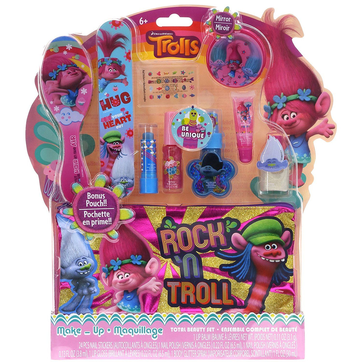 Amazon com: Townley Girl Dreamworks Trolls Makeup Kit for