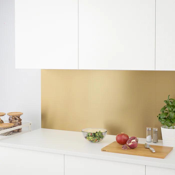 Lysekil Panel Scienny 2str Kolor Mosiadzu Stalowy Dodaj Do Listy Zakupow Ikea Lysekil Kitchen Wall Panels Wall Paneling