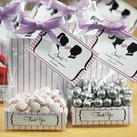 Personalized Striped Favor Bag Inserts