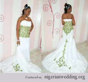 Nigerian Wedding Emerald Green Lace And White Wedding Gown Emerald Wedding Dresses Green Wedding Dresses Emerald Green Wedding Dress