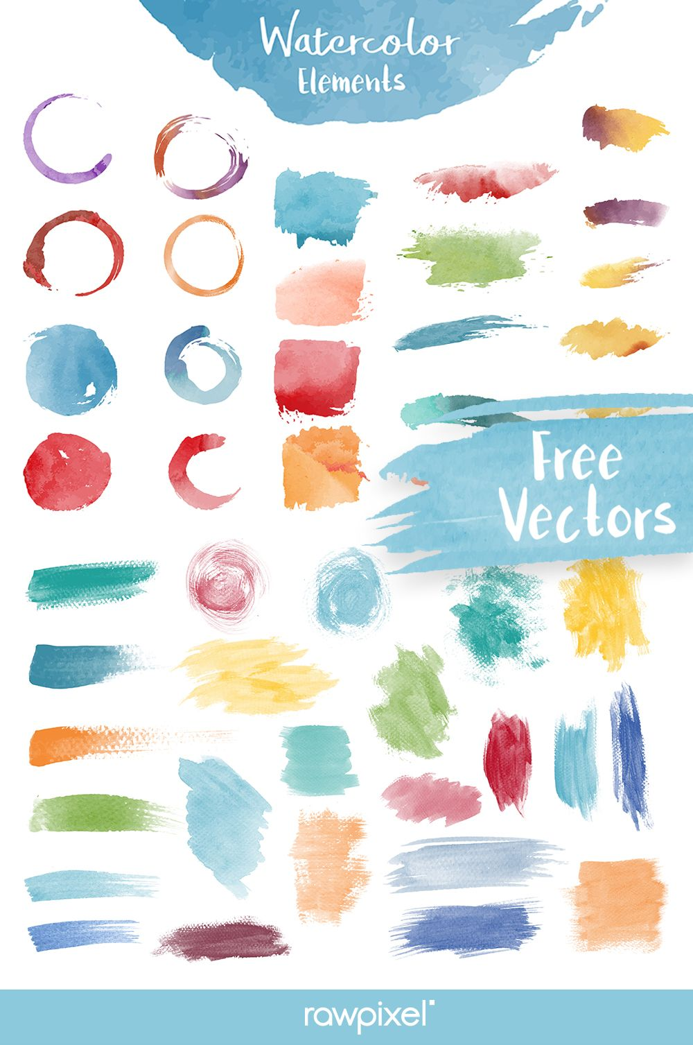 Download This Set Of Free Royalty Free Watercolor Elements And