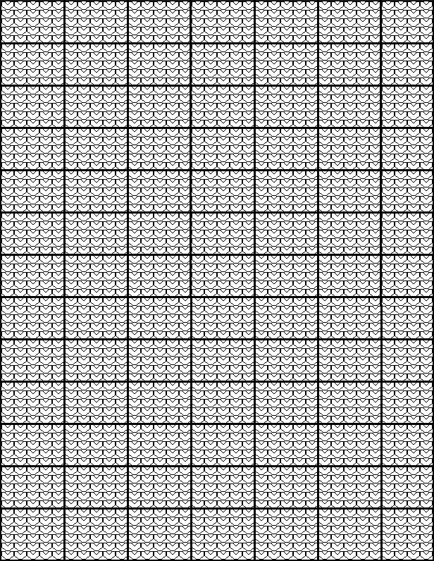 Another knitting graph paper chart that looks like knit stitches - cross stitch graph paper