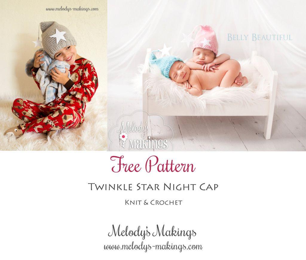 Twinkle Star Night Cap Pattern – FREEBIE! | Melody\'s Makings ...