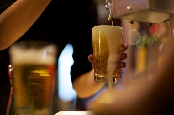 It's not Happy Hour without beer. -- Happy Hour 4-7 weekdays & Late Night Happy Hour 10-close every night!