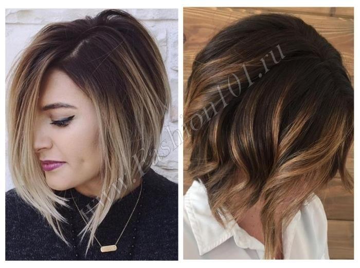 Балаяж на волосы с чёлкой