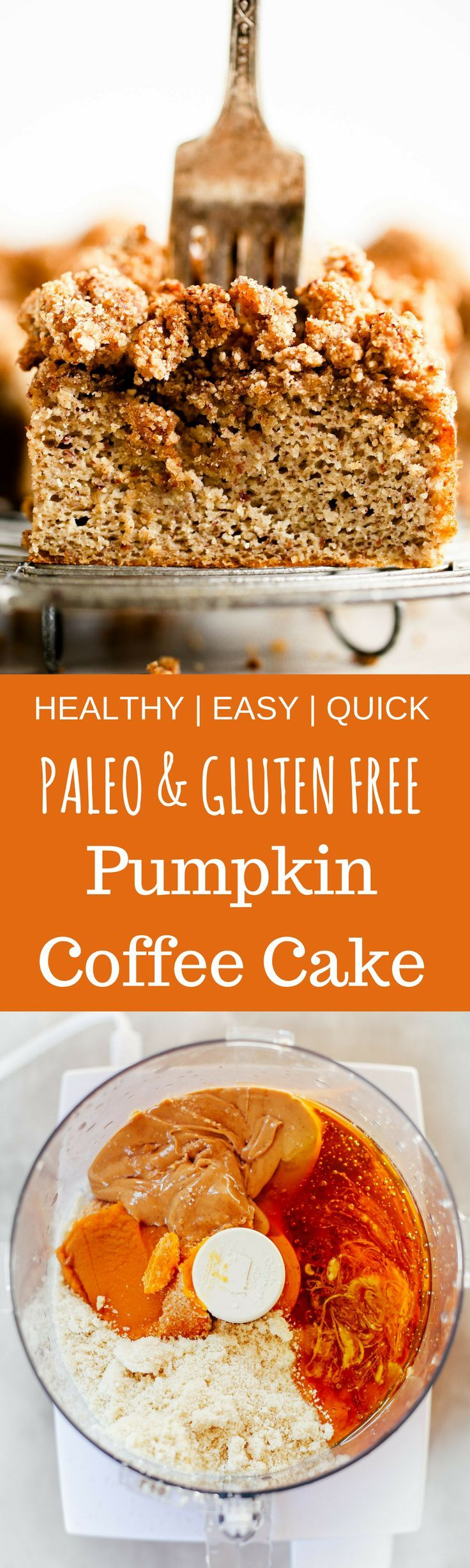 Gluten Free Paleo Pumpkin Chocolate Chip Coffee Cake