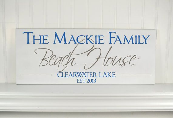 Beach House Sign Personalized Family Name With Elished Date Custom Wooden Plaque For Lake Gift Idea
