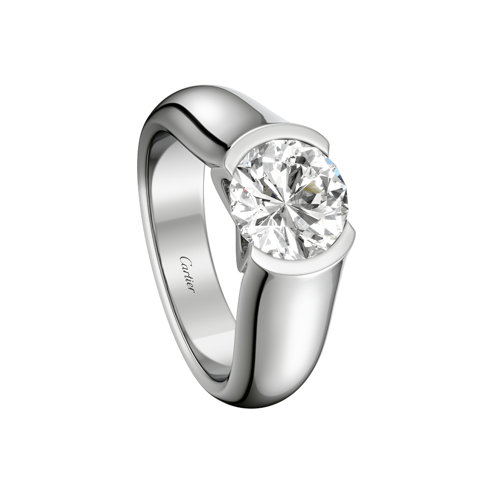 C De Cartier Solitaire  Engagement Rings Platinum, Diamond  Fine Engagement  Rings For Women