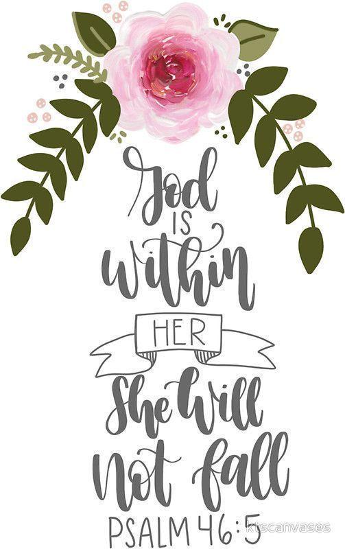 Psalm 46:5 Sticker by ktscanvases