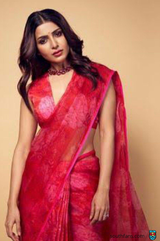 Samantha in red saree and choker!#samantha #samanthaakkineni #redlove #sam #tollywood
