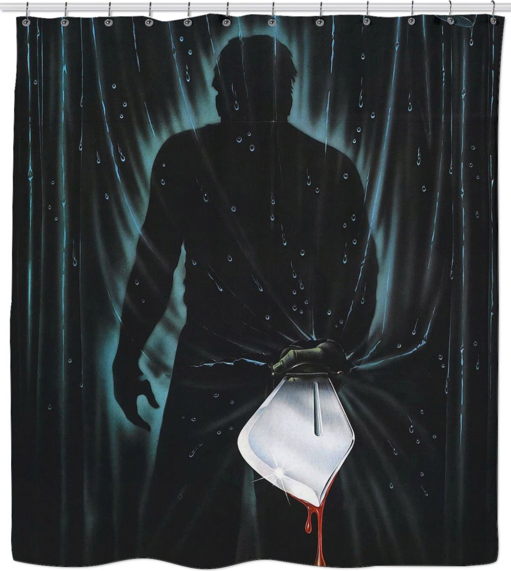 friday the 13th slasher shower curtain