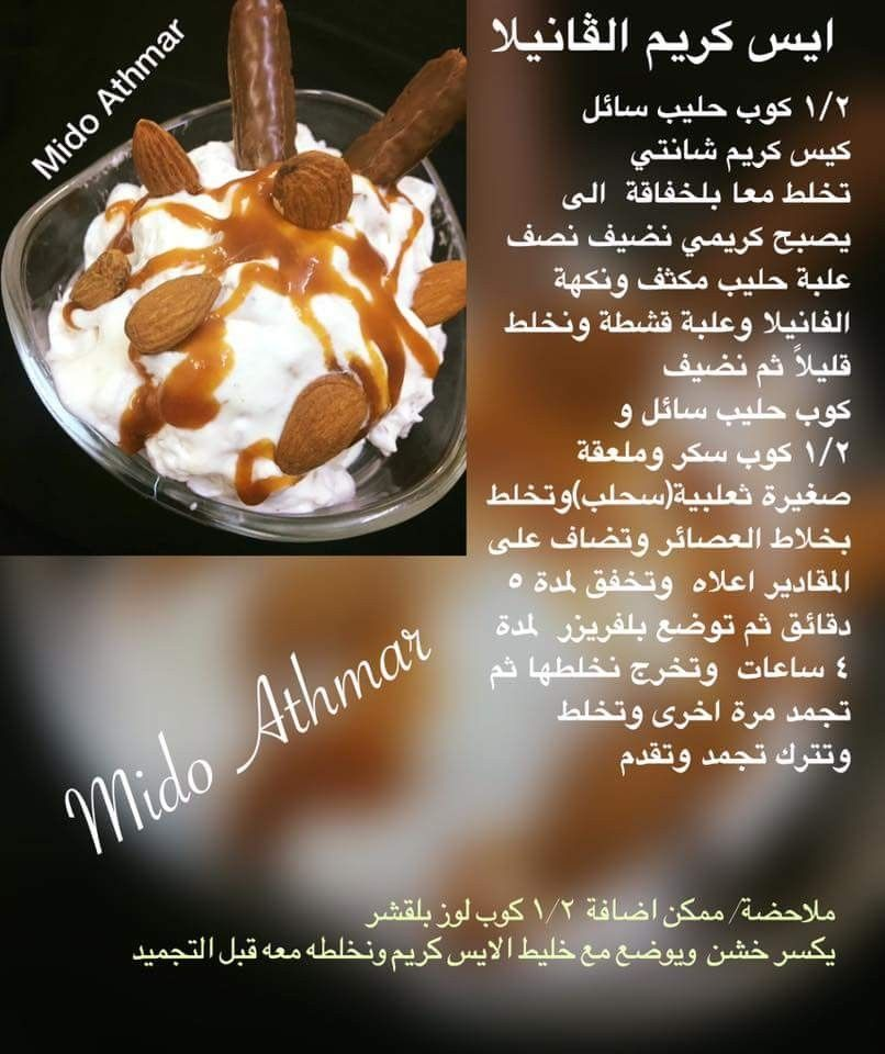 Pin By Zainab Salah On Ice Cream Food Lebanon Food Desserts