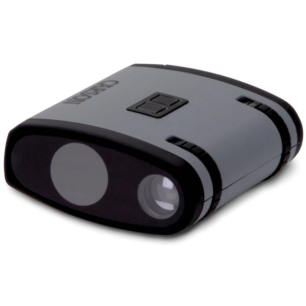 The Shirtpocket Night Vision Monocular -  About the size of a tape measure, it provides handy night optics for spotting wildlife in either dusk's ambient light or the total darkness of a moonless night.