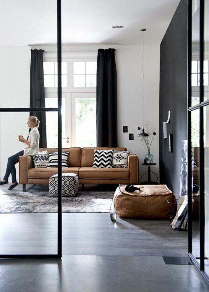 Idee Deco Salon Gris Et Marron Idees