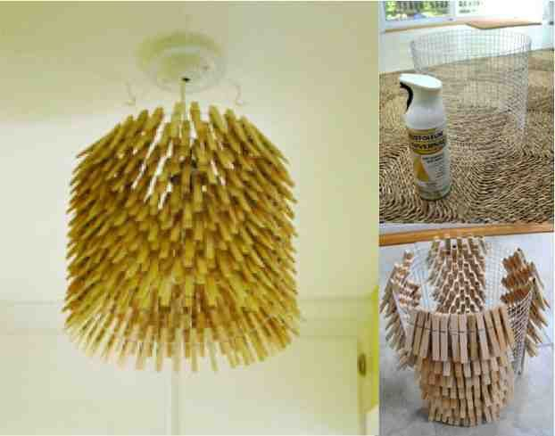 How to make a clothes pin chandelier chandeliers diy light and craft how to make a clothespin chandelier 2 aloadofball Choice Image