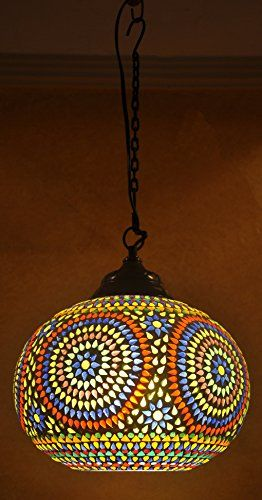Rajasthani Home Decor Traditional Mosaic Hanging Lamp 8 X 12 Inches Lalhaveli Http