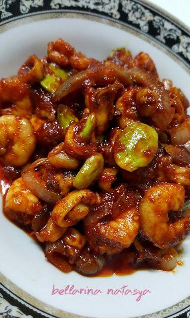 Sambal Tumis Sotong Udang Dengan Petai Ini Adalah Bellarina Natasya Resep Makanan Cina Resep Daging Makanan