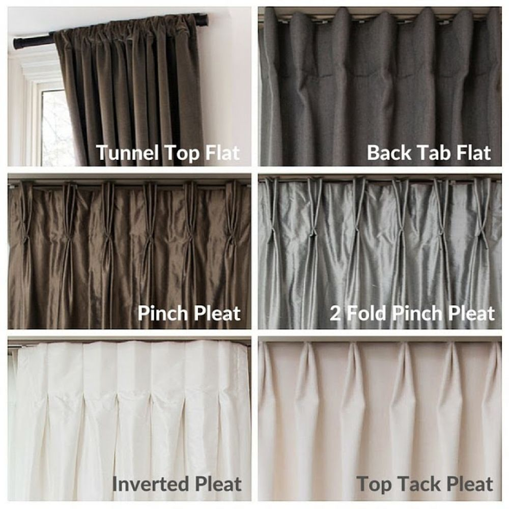 top tack pleat pleat styles, readymade drapes, readymade curtains ...