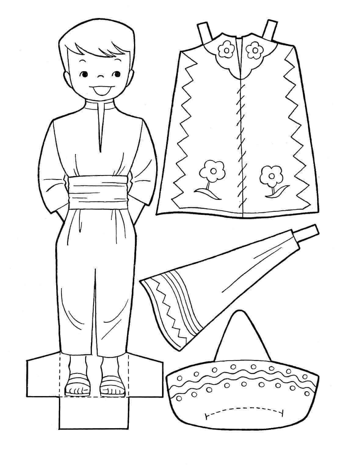 Cinco De Mayo Activity Sheets For Kids Printable Paper Dolls