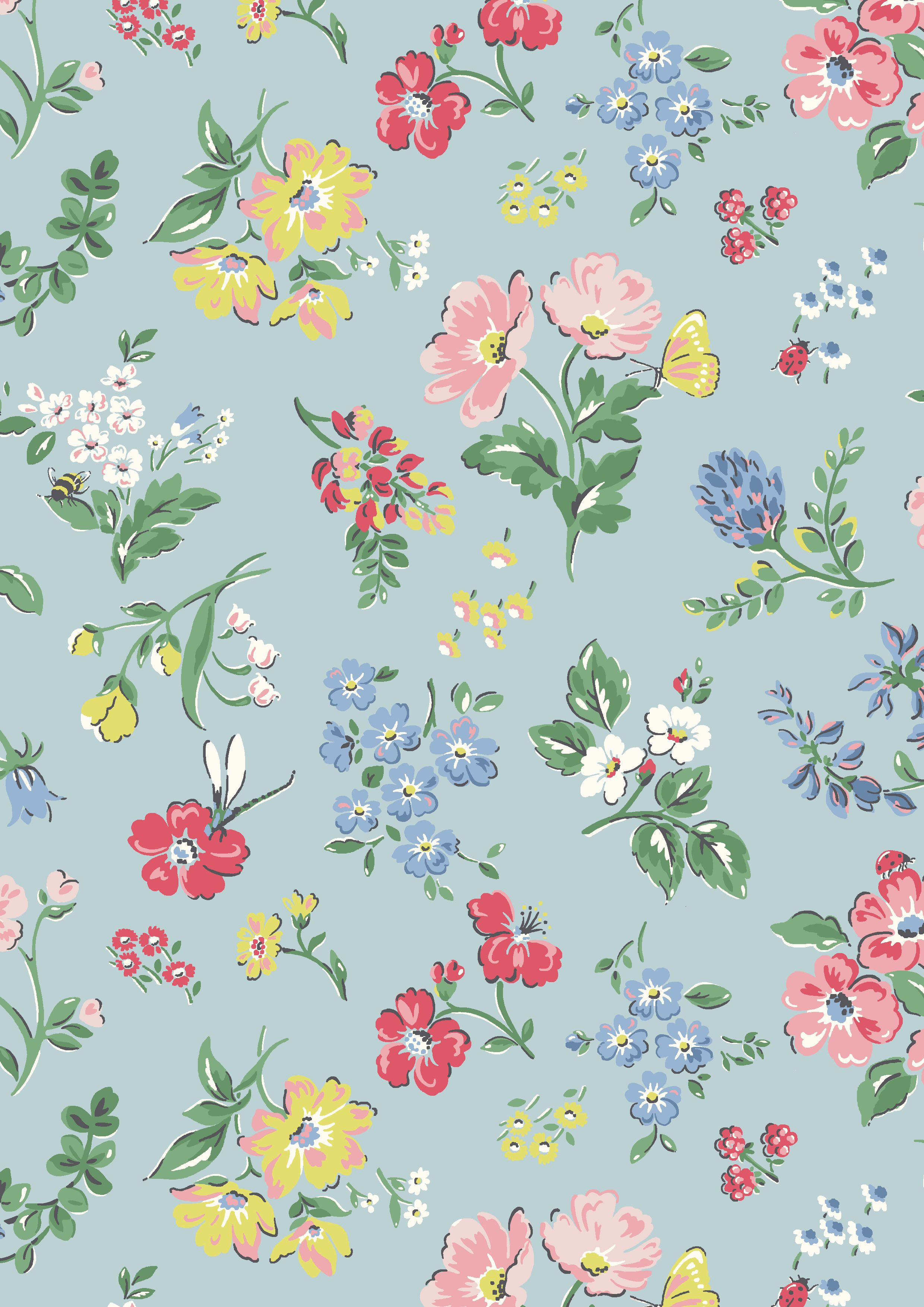 Introducing Meadow Print Floral Prints Print Wallpaper Cath
