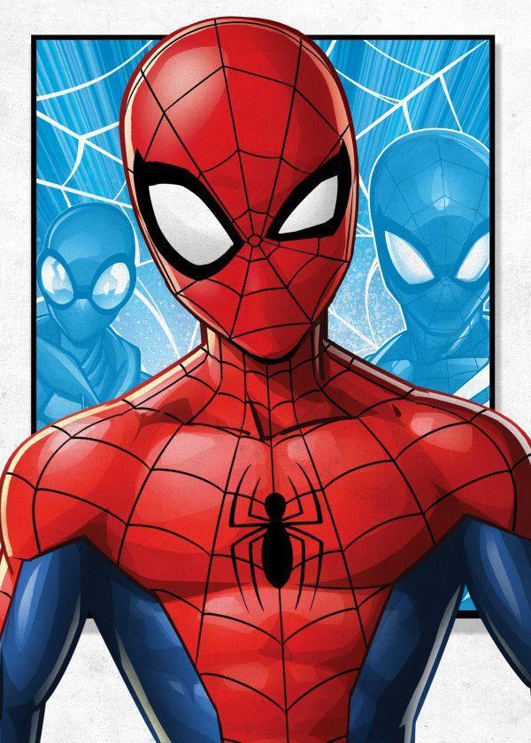 Official Marvel Spider-Man Kids Spider-Man #Displate artwork by artist