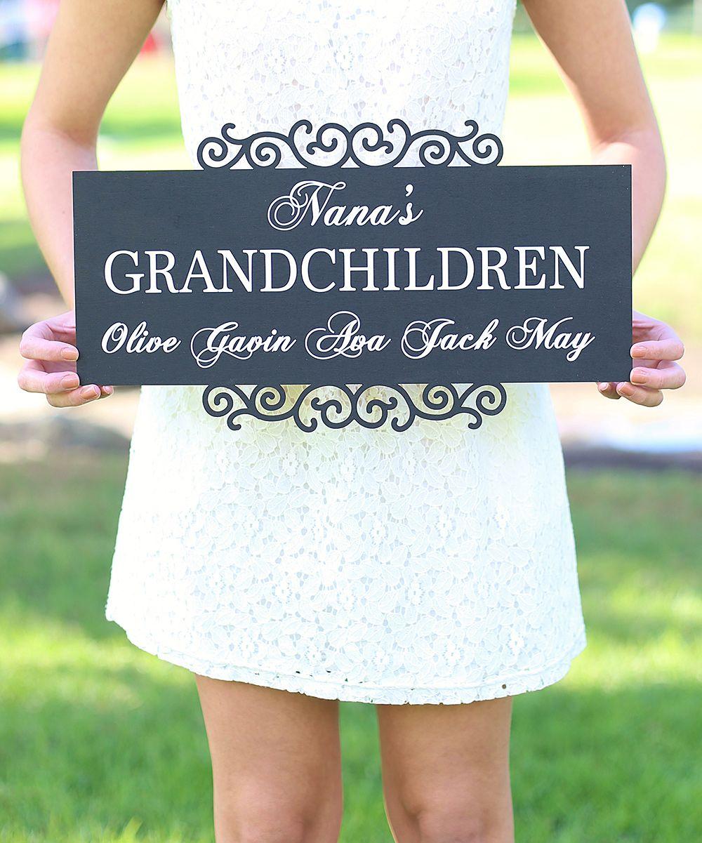 'Grandchildren' Personalized Sign (163889)