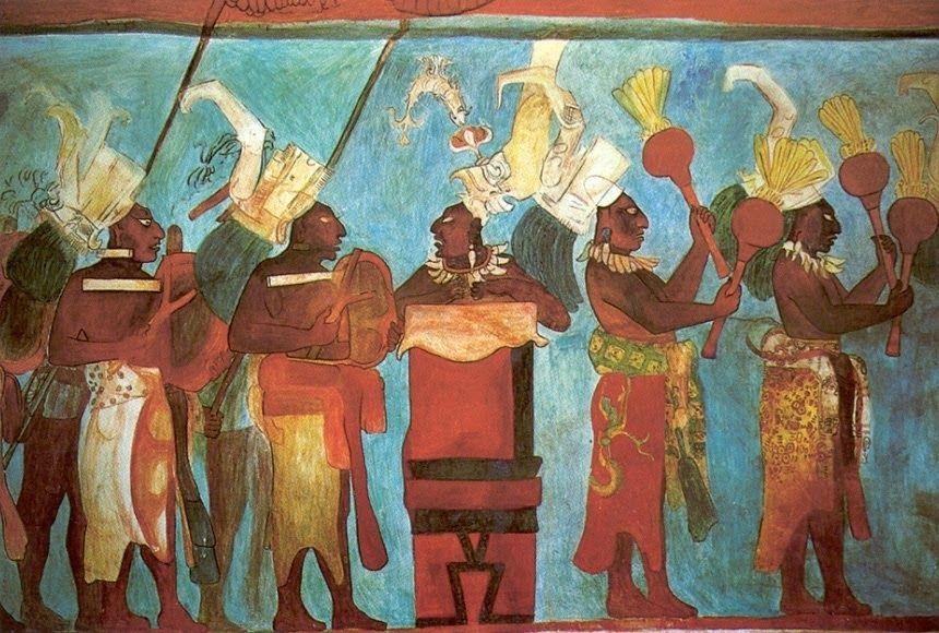 Awesome Murales Mayas De Bonampak In 2020 Maya Art Mayan Art