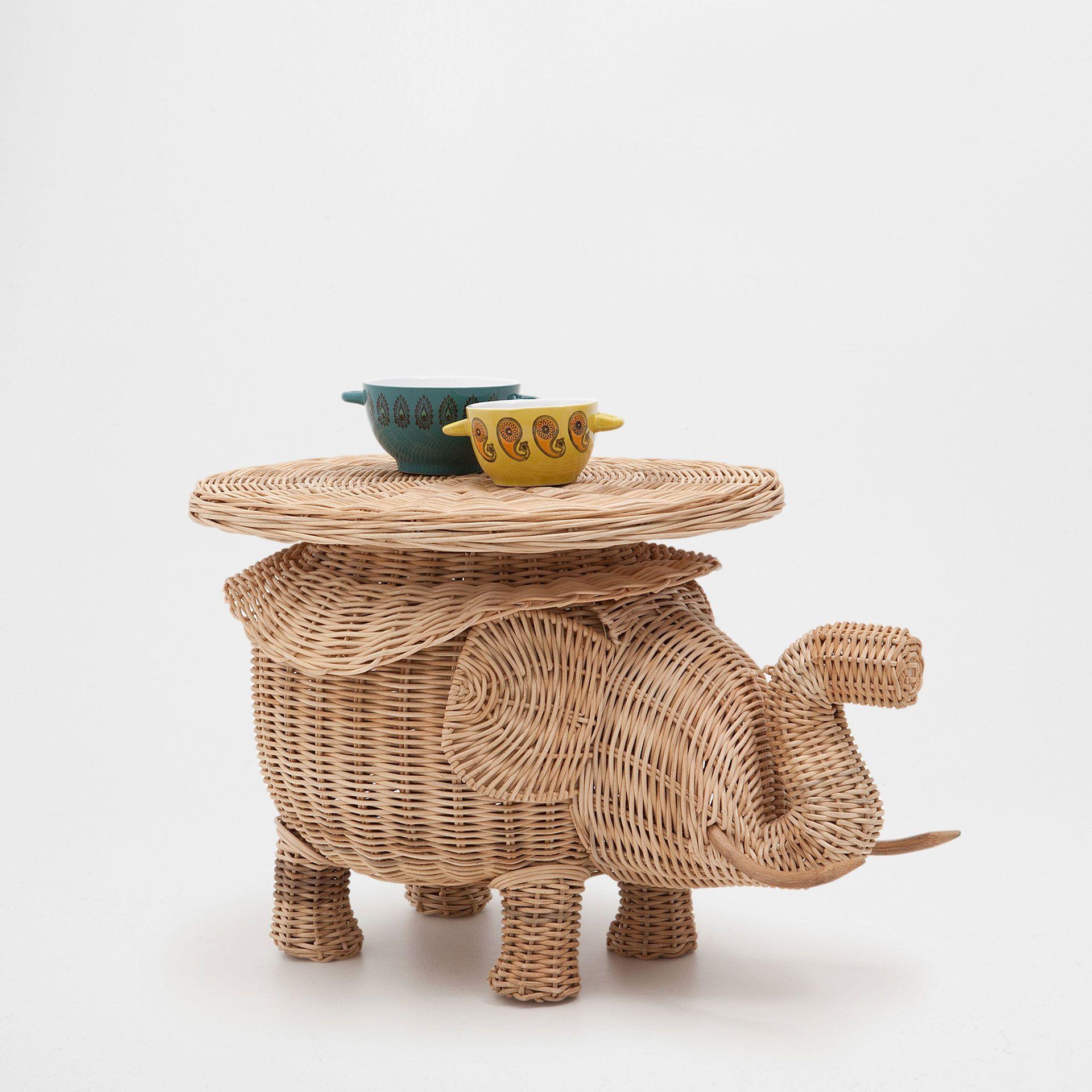 Mesa forma de elefante m veis auxiliares zara home for Cestas zara home