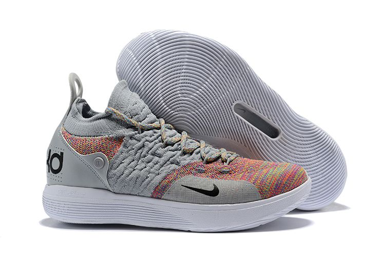 New Nike KD 11 Cool Grey/Multi-Color