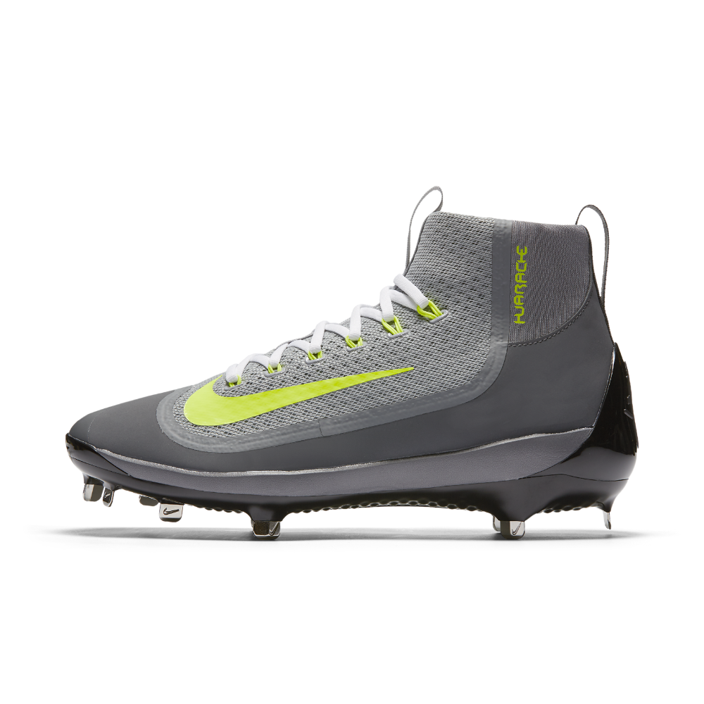 promo code 46474 fd6ba Nike Alpha Huarache 2K Filth Mid Men s Baseball Cleats Size 12.5 (Grey) -  Clearance Sale