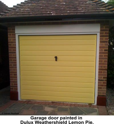 How To Paint An Up And Over Metal Garage Door Back Garden