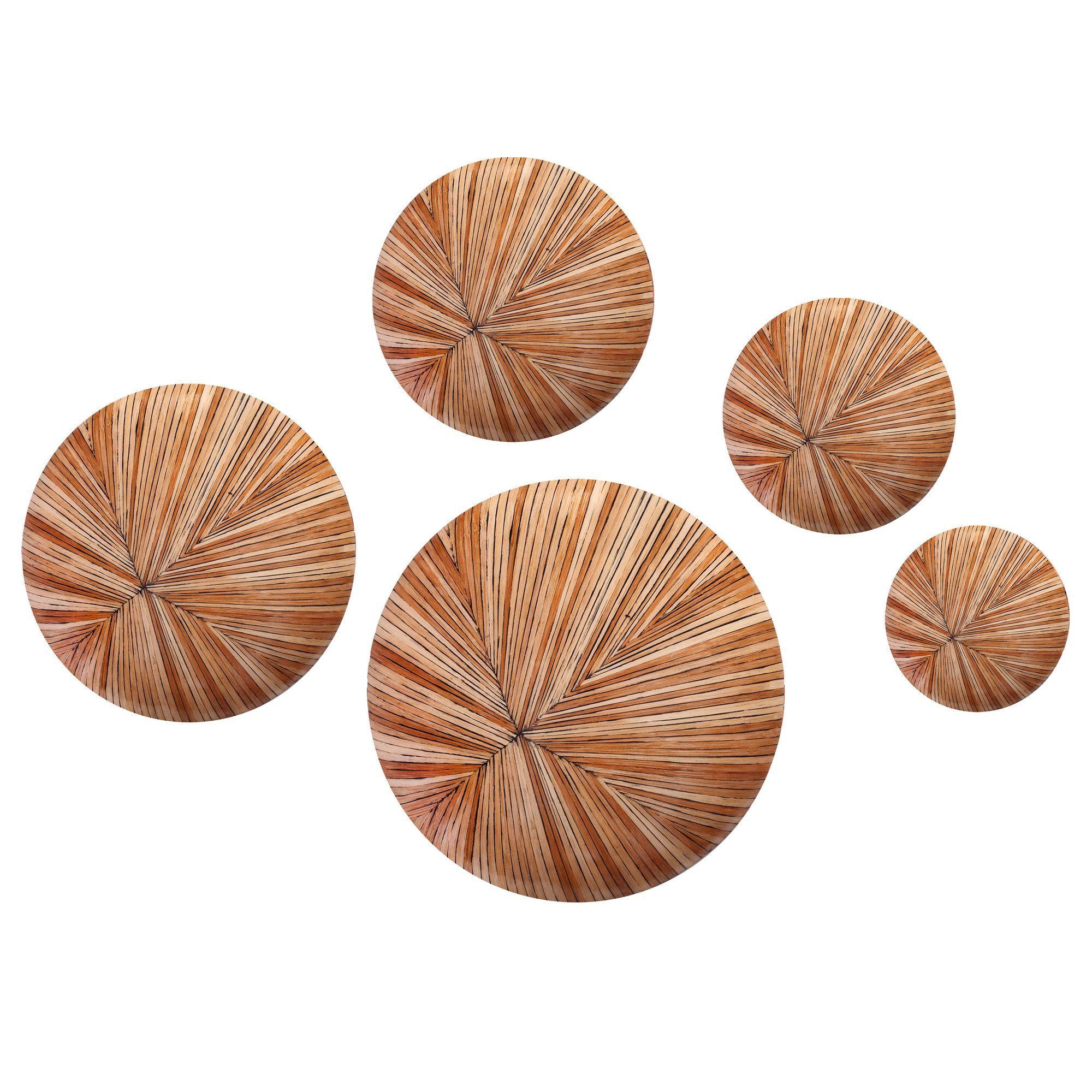 5 Piece Buga Wall Décor Button Set